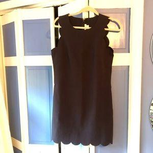 JCrew scalloped dress